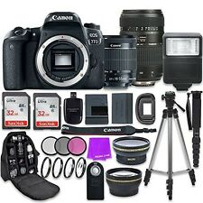 Canon EOS 77D 24.2 MP Digital SLR Camera with Wi-Fi & Bluetooth + EF-S 18-55