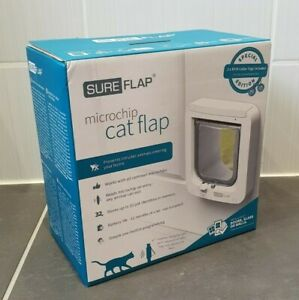 Sureflap SUR001 Microchip Cat Flap White - Brand New - Special Edition RFID
