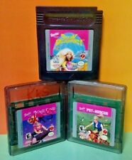 Barbie Ocean Discovry Pet Rescue Magic Genie 3 Games Nintendo Game Boy Color GBC