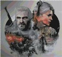 The Witcher Video Game Fan Art DIGITAL Counted Cross-Stitch Pattern Needlepoint