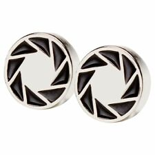 Valve womens Portal 2 Aperture 80s Logo Earrings Standard