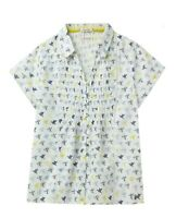 White Stuff sz 8 -18 Ami Bird Garden Print Pleated soft Cotton Blouse Shirt Top