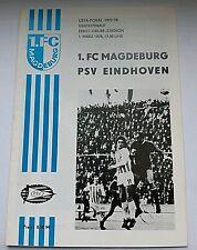 Orig.Programm EC 1.FC Magdeburg PSV Eindhoven Nederland 1.3.78 DDR programma FCM