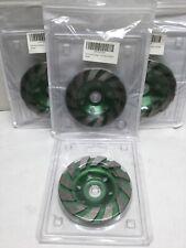 """E-UNIONA 4"""" Diamond Segment Grinding Disc for Concrete Granite Stone (4 Pack)"""