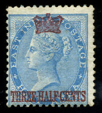 Straits Settlements. 1867. 1 1/2c on 1/2a. SC# 1. SG 1. NGH. Signed