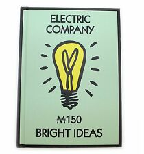 New Monopoly Electric Company  Hard Back Notebook Retro A6 Gift Stationery Paper