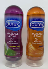 Set of 2 DUREX Massage & Play Intimate Pleasure Gels 6.76 oz Ea. READ