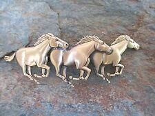 Running Horses Hair Barrette with Made in France 70mm Clip-Made in USA 6039B