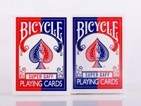 2pcs/Set Bicycle Super Gaff Deck Blue&Red Magic Cards Playing Poker Close Up