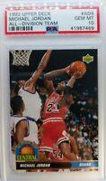 1992 92 Upper Deck All-Division Team Michael Jordan #AD9, Graded PSA 10 GEM Mint