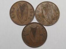 3 Ireland Pennies: 1933, 1942 & 1948.  #36