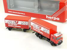 Herpa 142632 MAN ATU Auto-Teile-Unger Koffer-Hängerzug HZ OVP 1411-12-74