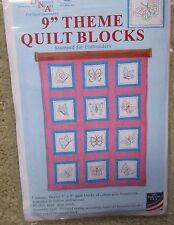 "Jack Dempsey embroidery / cross stitch 9"" Theme Quilt Blocks BUTTERFLIES"
