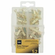 Coral Easy Hanger Assorted Picture Hook Kit Wall Art Mirrors 4 52 piece pack set