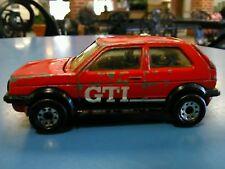1985 MATCHBOX SUPERFAST VW VOLKSWAGEN GOLF GTI LOOSE VINTAGE DISTRESSED RED