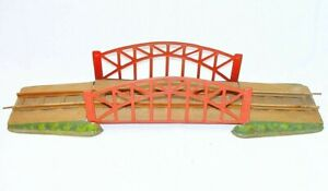 Marklin O Scale LARGE ARCH BRIDGE WITH 2 RAMPS Tin Plated Railway Track Set 1930