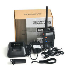 Baofeng UV-5R V2+ Dual-Band 136-174/400-520 MHz FM Ham Two-way Radio US Plug Set