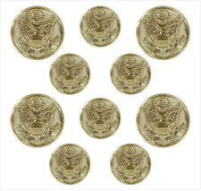 Genuine U.S. Army Button Set: Eagle 4X36 Ligne And 6X25 Ligne