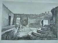 1845 Zuccagni-Orlandini Avanzi del Piccolo Teatro di Pompei