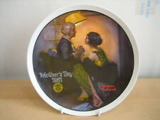 EDWIN KNOWLES NORMAN ROCKWELL COLLECTORS PLATE - MOTHERS DAY 1981
