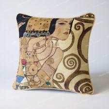 "Jacquard Weave Tapestry Pillow Cushion Cover Gustav Klimt - Lady, 18""x18"", US"