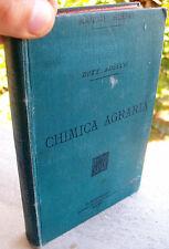 1893 MANUALE HOEPLI 'CHIMICA AGRARIA' PRIMA EDIZIONE. DI ADRIANO ADUCCO
