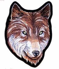 large JUMBO WOLF HEAD JACKET BACK PATCH JBP69 EMBROIDERED WOLVES  NEW