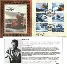 2008 MAYDAY RESCUE AT SEA SIGNED NICK WARD BENHAM FIRST DAY COVER SHS