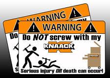 Knaack Tool Toolbox Warning Sticker Decal box Screw