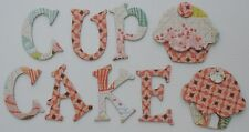 Basic Grey *CUPCAKE NOOK & CRANNY* Chipboard Letters