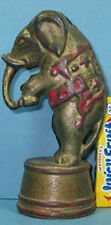 1920's CIRCUS ELEPHANT ON TUB CAST IRON BANK AUTHENTIC & OLD **ON SALE** CI  752
