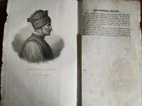 stampa 1800 incisione ritratto VITTORINO DA FELTRE