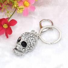 Fashion Big Crystal Skull Pendants Bag Ornament KeyChain Rhinestone Keyring Gift