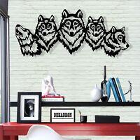 Geometric Wolf Head Wall Art Metal Wall Decor Home Office ...