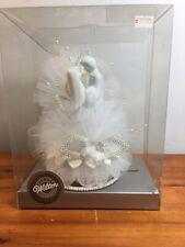Wilton Porcelain And Lace Wedding Ornament Keepsake Topper Nos
