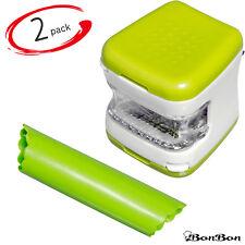 2 Pcs Garlic Onion Veggie Chopper Slicer, Mincer Cube Shredder & Peeler - USA