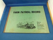 FARM PAYROLL RECORD BOOK ONTARIO FARM CONSULTANTS TILLSONBURG ONTARIO