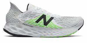 New Balance Men's Fresh Foam 1080v10 Shoes White with White & Green