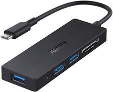 USB C Hub AUKEY 5 in 1 USB Type C Adapter with SD/TF Card Reader & 3 USB 3.0 New