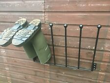 Welly Boot Rack Wall Door Mounted Equestrian Musto Walking Fishing Riding