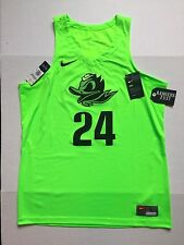 Nike Oregon Ducks Basketball Jersey Stitched #24 Authentic Fighting Duck Sz L