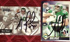 Mike Golic former Philadelphia Eagles DT & ESPN auto autograph football card LOT