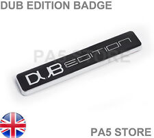 Dub Edition Black & Chrome car badge - Wing Body V W Beetle Golf Bora Lupo Polo