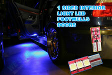 501 Blue  GOLF AUDI  FOOTWELL led LIGHTS, A3 A4 MK5 MK6  GOLF MK7  GTI ,2pc  t10