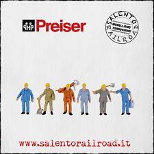 PREISER 10033 SET PERSONAGGI: Operai ferroviari a lavoro - 1/87