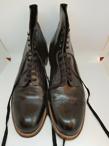 Stacy Adams Madison Cap Toe Black Dress Boot US 11 Pre-Owned Good Condition