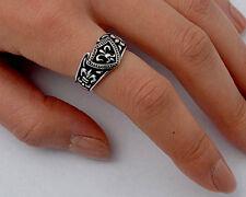 USA Seller Fleur De Lis Ring Sterling Silver 925 Unisex Best Jewelry Size 12