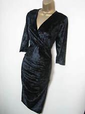 Christmas Party Grace Black Velvet Evening Dress -  12 14  16 18 20 22 24 26