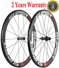 Superteam 50mm Clincher Carbon Bike Wheels Rim Brake Carbon Road Wheelset 700C