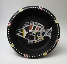 Handpainted Aboriginal Art Barramundi Design Terracotta Bowl Australian Pottery